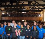 Blitzboks in Grey College assembly