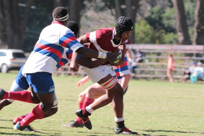 Rugby - Kearsney's Sibu Sangweni in the win against St Benedicts 2