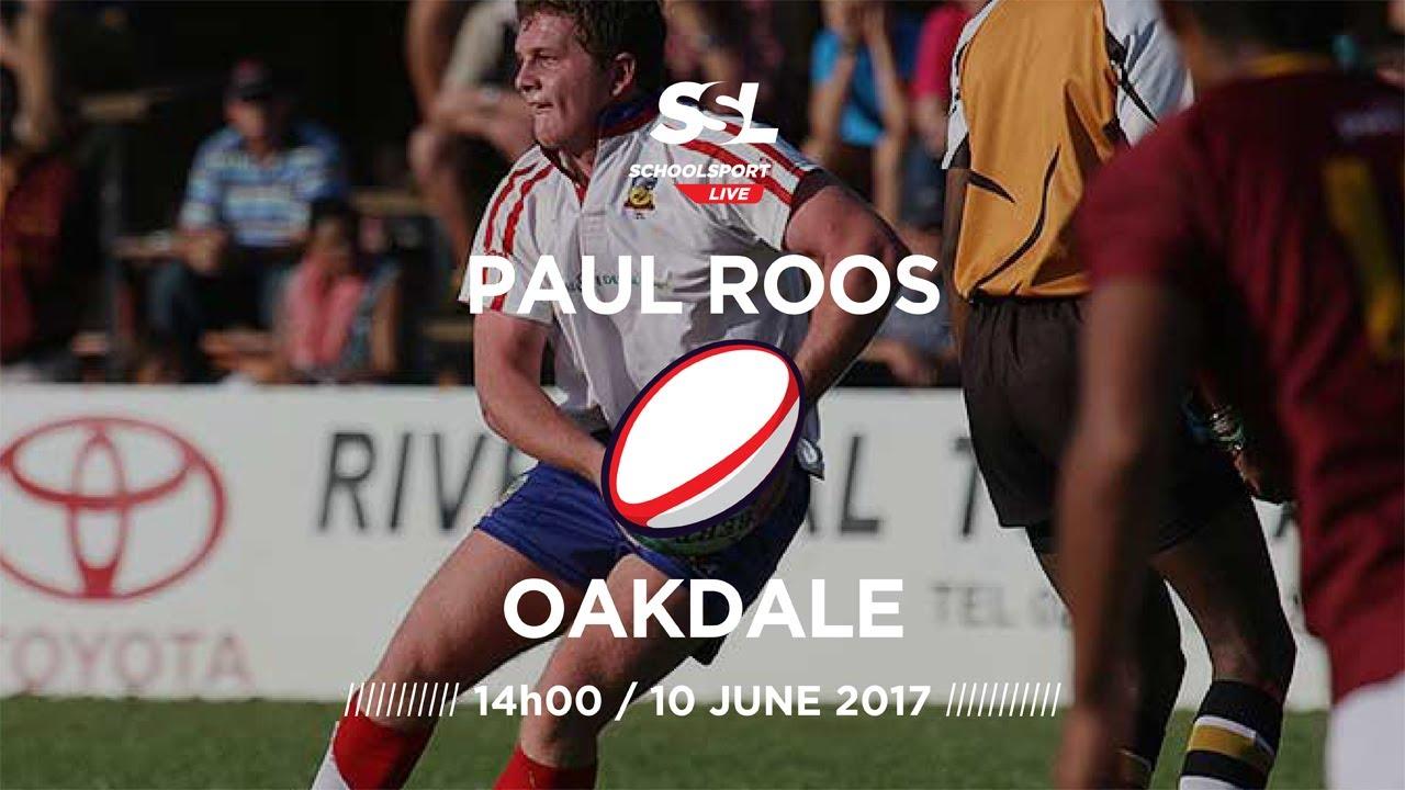 Paul Roos 1st XV vs Oakdale 1st XV, 10 June 2017