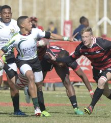 JOHANNESBURG, SOUTH AFRICA - JULY 18: Clyde Lewis of SWD with possession against Eastern Province during day 2 of the 2017 U/18 Coca-Cola Craven Week at St Stithians College on July 18, 2017 in Johannesburg, South Africa. (Photo by Sydney Seshibedi/Gallo Images)