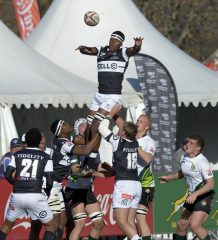 JOHANNESBURG, SOUTH AFRICA - JULY 20: Phendulani Buthelezi of the Sharks wins possession against SWD during day 4 of the 2017 U/18 Coca-Cola Craven Week at St Stithians College on July 20, 2017 in Johannesburg, South Africa. (Photo by Sydney Seshibedi/Gallo Images)