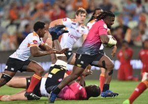 BLOEMFONTEIN, SOUTH AFRICA - SEPTEMBER 22:  Brian Shabangu of the Steval Pumas during the Currie Cup match between Toyota Free State Cheetahs and Steval Pumas at Toyota Stadium on September 22, 2017 in Bloemfontein, South Africa. (Photo by Johan Pretorius/Gallo Images)