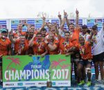 UJ win Varsity 7's Rugby final between UFS Kovsies and UJ at Kings Park Stadium in Durban on December 3, 2017