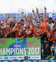 UJ win Varsity 7's Rugby final between UFS Kovsies and UJ at Kings Park Stadium in Durban on December 3, 2017
