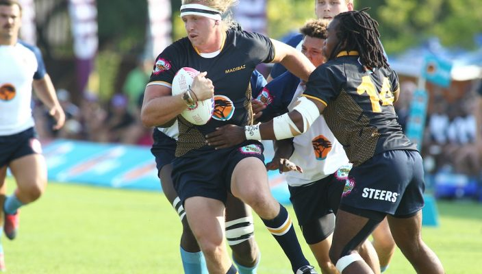 Justin Hollis from Madibaz during the Varsity Cup match between CUT and Madibaz at CUT Stadium, Monday 12 February 2018, Bloemfontein, 2018