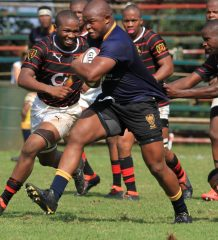 Game 4 - DHS try scorer and prop Mthokozisi Gumede.