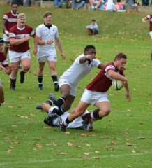 Kearsney try scorer Taine Polzi in the game against Hilton