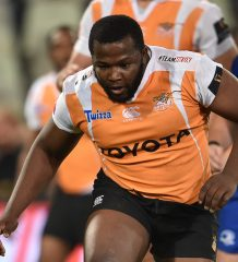 BLOEMFONTEIN, SOUTH AFRICA - SEPTEMBER 22:  Ox Nche of the Toyota Cheetahs during the Guinness Pro14 match between Toyota Cheetahs and Leinster at Toyota Stadium on September 22, 2017 in Bloemfontein, South Africa. (Photo by Johan Pretorius/Gallo Images)