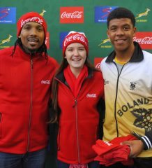 Akona Ndungane, Bianca Kruger and Lionel April